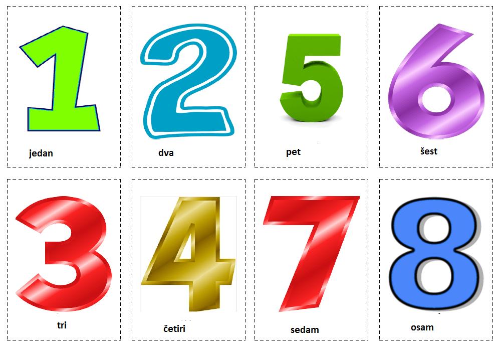 Brojevi 1-8 (Numbers 1-8)