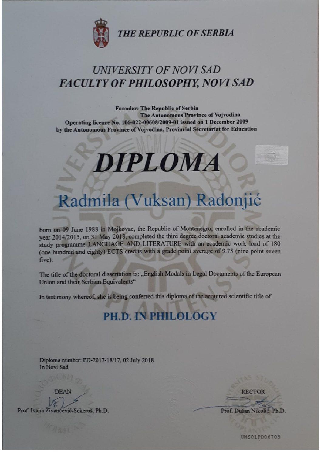 My PhD diploma