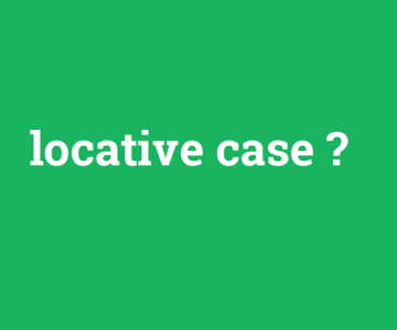 Locative case singular exercises